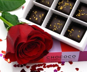 Chococo romantic rose chocolate box