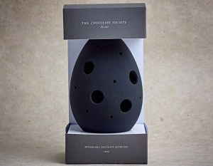 The Chocolate Society Easter collection monochrome-black-egg