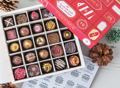 chococo-advent-selection-box-fresh-truffles-chocolate-dorset-christmas