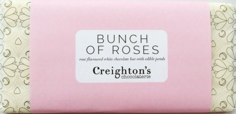 Creighton's Chocolaterie Bunch of Roses chocolate bar